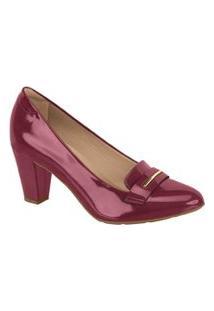 Sapato Scarpin Modare Ultraconforto Salto Médio 7305108 Vinho