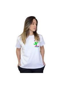 Camiseta Boutique Judith Drunk Cactus Branco