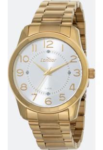 Kit Relógio Feminino Condor Co2039Ab K4K Analógico 5Atm + Conjunto Semijóia