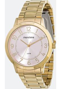 Kit Relógio Feminino Mondaine 83469Lpmvde2K Analógico 5Atm + Pulseira