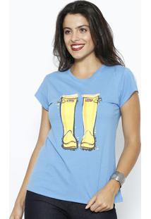 Camiseta Botas- Azul & Amarelaclub Polo Collection