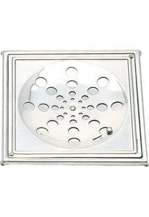 Grelha Quadrada Com Caixilho 15X15Cm S19-A-Geapap Sem Rotativo Aço Polido Moldenox