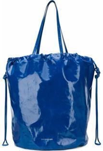 Sharkchaser Bolsa Tote Bucket Com Logo Gravado - Azul