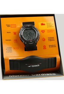 a8f0997c373 CEA. Kit De Relógio Digital Speedo Masculino + Monitor Cardíaco -  80565g0epnp2 Preto - Único