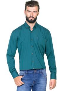 Camisa Hugo Rossi Micro Listra Verde - Masculino