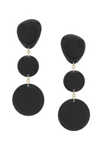 Isabel Marant Bright Rounded Earrings - Preto