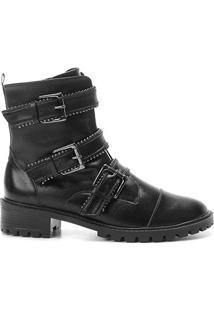 5404065e4 ... Bota Coturno Shoestock Couro Fivelas Feminina