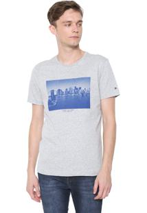 Camiseta Tommy Hilfiger Skyline Photo Cinza