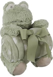 Sapo De Pelúcia Com Cobertor Para Bebê