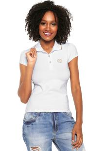 Camisa Polo Lunender Logo Branca