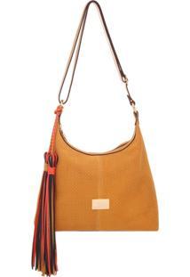 Bolsa Smart Bag Couro Camurça Tressê Transversal - Feminino
