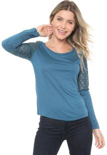 Blusa Briard Renda Azul