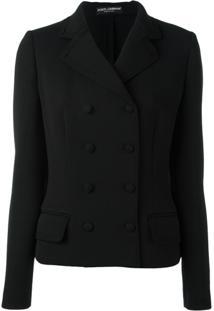 Dolce & Gabbana Jaqueta Com Duplo Abotoamento - Preto