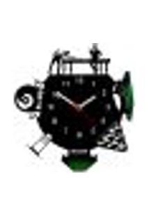 Relógio De Parede Decorativo - Modelo Mundo Bilhar
