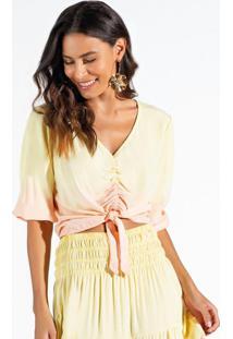Blusa Viscose Amarelo
