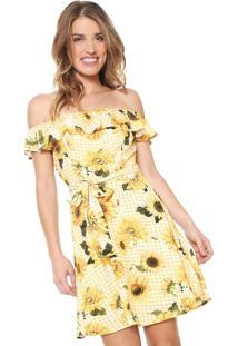 8f85ec828 Vestido Amarelo Lez A Lez feminino   Shoelover