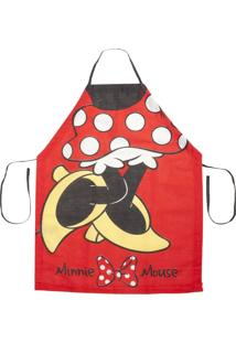 Avental Adulto Lepper Home Fun Minnie M Vermelho