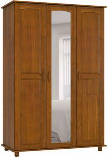 Guarda-Roupa Solteiro Com Espelho Onix 3Pt Imbuia