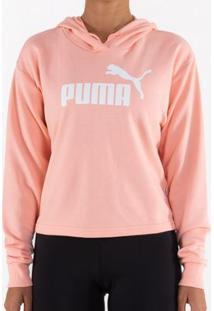 Blusão Puma Ess+ Logo Hoody Peach Feminino G
