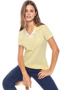 Camisa Polo Malwee Listra Amarela