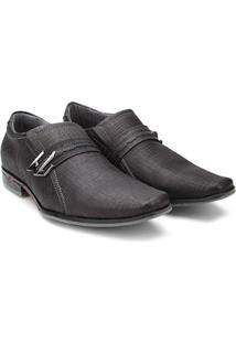 Sapato Social Couro Pegada Masculino - Masculino-Preto