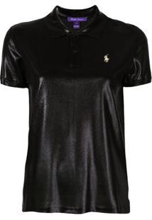 Ralph Lauren Collection Camisa Polo Com Efeito Brilhante - Preto