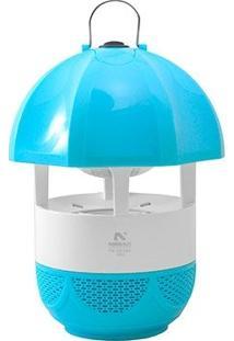 Luminária Repelente Elétrico Mata Insetos Por Luz E Sucção Alcance 25M Sem Cheiro Azul Bivolt