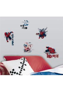 Adesivo Decorativo Homem-Aranha Colorido Roommates Vermelho