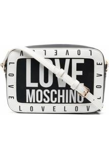Love Moschino Pochete Bicolor Com Logo - Preto