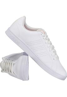 ... Tênis Adidas Vs Advantage Clean Feminino Branco E Laranja a5593872129bb