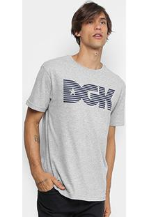 Camiseta Dgk Levels Masculina - Masculino-Cinza
