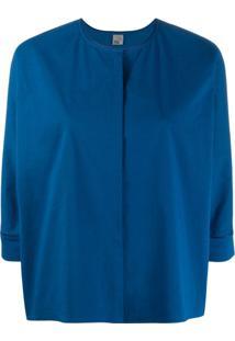 Quelle2 Concealed Front Blouse - Azul