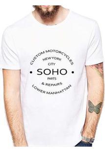 Camiseta Coolest Soho Masculina - Masculino-Branco