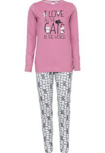 Pijama Pzama Cats Rosa/Azul