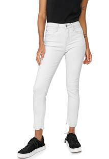 Calça Jeans Calvin Klein Jeans Skinny Cropped Pespontos Azul