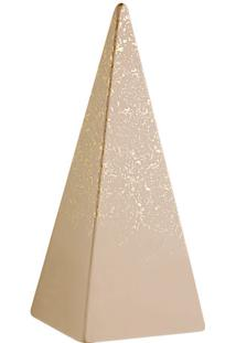 Escultura Decorativa- Nude & Dourada- 26X10,5X10,5Cmmart