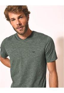 Camiseta Aviator Gola V Básica Masculina - Masculino-Verde