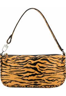 By Far Rachel Tiger-Print Shoulder Bag - Marrom