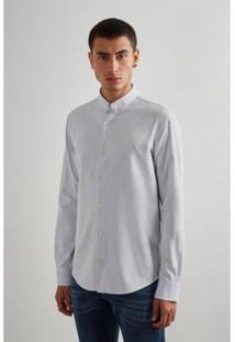Camisa Regular Oxford Reserva - Masculino-Cinza