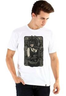 Camiseta Ouroboros Manga Curta Queen - Masculino-Branco