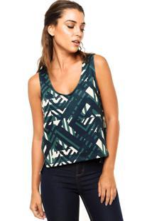 Regata Calvin Klein Jeans Abstrata Fendas Verde/Amarela