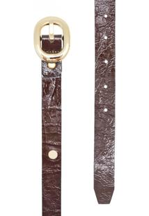 Cinto Corazzi Leather Deluxe Rebites Café