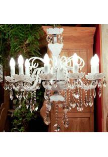 Lustre De Cristal Clássico Beaux-Arts Para 8 Lâmpadas Bivolt