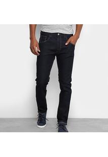 Calça Jeans Reta Rock Blue Escura Masculina - Masculino