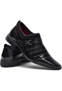 Sapato Social Ruggero Detalhe Masculino - Masculino-Preto