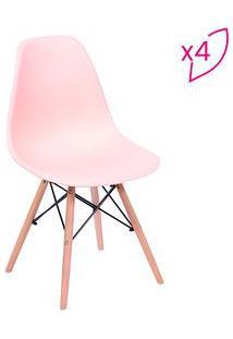 Or Design Jogo De Cadeiras Eames Dkr Salmã£O & Madeira 4Pã§S