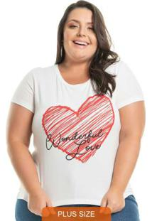 Blusa Wonderful Love Branco