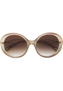 ... Chloé Eyewear Óculos De Sol Redondo - Marrom 49124048cd