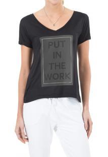 Camiseta Live Bella Work Preta