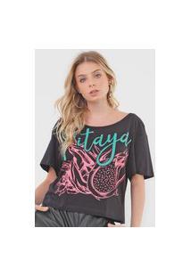 Camiseta My Favorite Thing(S) Pitaya Preta